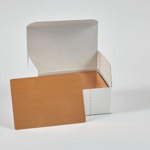 """Hullzellenblech """"Bronze"""" 70 x 100 x 0,3 (Neue Verpackung – 100 Stück/Paket)"""