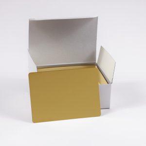 """Hullzellenblech """"Messing"""" 70 x 100 x 0,3 (Neue Verpackung – 100 Stück/Paket)"""