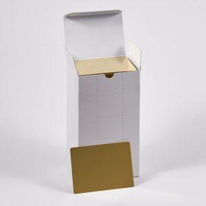 """Hullzellenblech """"Messing"""" 70 x 100 x 0,3 (Neue Verpackung – 500 Stück/Paket)"""